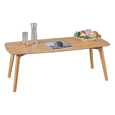 WOHNLING Couchtisch aus MDF mit Eichefurnier Kaffeetisch | Wohnzimmertisch im Landhaus-Stil | Design Holz-Tisch Skandinavisch Lounge-Tisch | Eiche Massivholztisch Wohnzimmer-Möbel SCANIO
