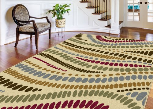 Universal Rugs Contemporary Abstract 7 ft. 6 in. x 9 ft. 10 in. Area Rug , Beige