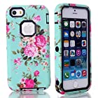 iPhone 5,iPhone 5 case,iPhone 5 cases,iPhone 5s hard case,fashion iphone 5s case,Flipcase 2in1 Hybrid High Impact Hard Colorful Flowers Pattern +Silicone Case Cover iPhone 5 case For iPhone 5S & iPhone 5 #4