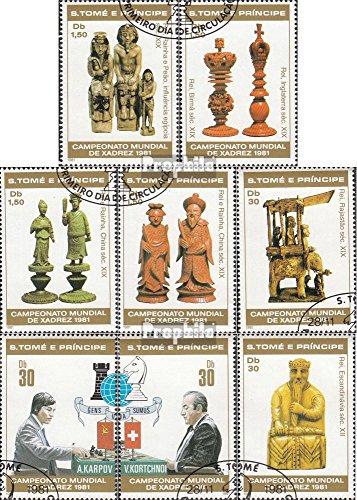 sao-tome-e-principe-703a-710a-completaproblema-1981-chess-wm-francobolli-