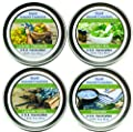 Set of 4- Premium 100% All Natural Soy Wax Aromatherapy Candle Tins: Lavender, Lavender Chamomile, Lavender Mint & Lavender Vanilla. 2 oz.- Naturally Strong Scented.