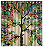 """Tree of Life Gorgeous Like Leather 66""""(w) x 72""""(h) Bath Shower Curtain"""