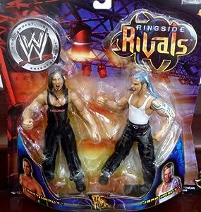 Jeff Hardy vs. Matt Hardy WWE Ringside Rivals Toy Figures