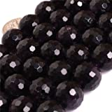 JOE FOREMAN 14mm Amethyst Semi Precious Gemstone Round Faceted Loose Beads for Jewelry Making DIY AAA Grade Genuine Handmade Craft Supplies 15