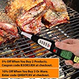 Smart Digital Meat Thermometer -Instant Probe Read-Best 5 BBQ Cooking Program-Dad Birthday Men Idea