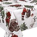 Wachstuch Tischdecke abwaschbar Meterware, Glatt Weihnachten Bescherung Weiß, Größe wählbar von Beautex - Gartenmöbel von Du und Dein Garten