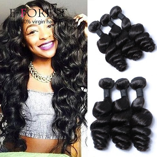 E-forest-hair-Weft-3-Bundles-300g-Brazilian-Virgin-Human-Hair-Weaves-Extension-Unprocessed-Loose-Wave-Natural-color-Size-10-10-10
