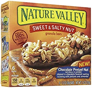 Nature Valley Chocolate Pretzel Nut, Sweet and Salty, 1.2 oz, 6 Count