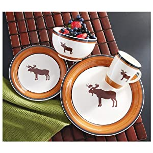 16-Pc. Moose Dinnerware Set