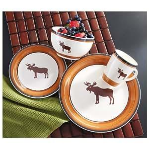 16-Pc. Moose Dinnerware Set
