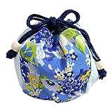 ゆかた屋hiyori オリジナル丸巾着 古典マチ付き丸巾着 初夏の水辺