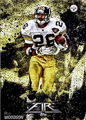 2014 Topps FIRE Football Card #5 Rod Woodson - Pittsburgh Steelers MINT