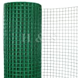 H&S® 30m*0.91m PVC Coated Welded Green Garden Chicken Rabbit Wire Mesh Fence Fencing