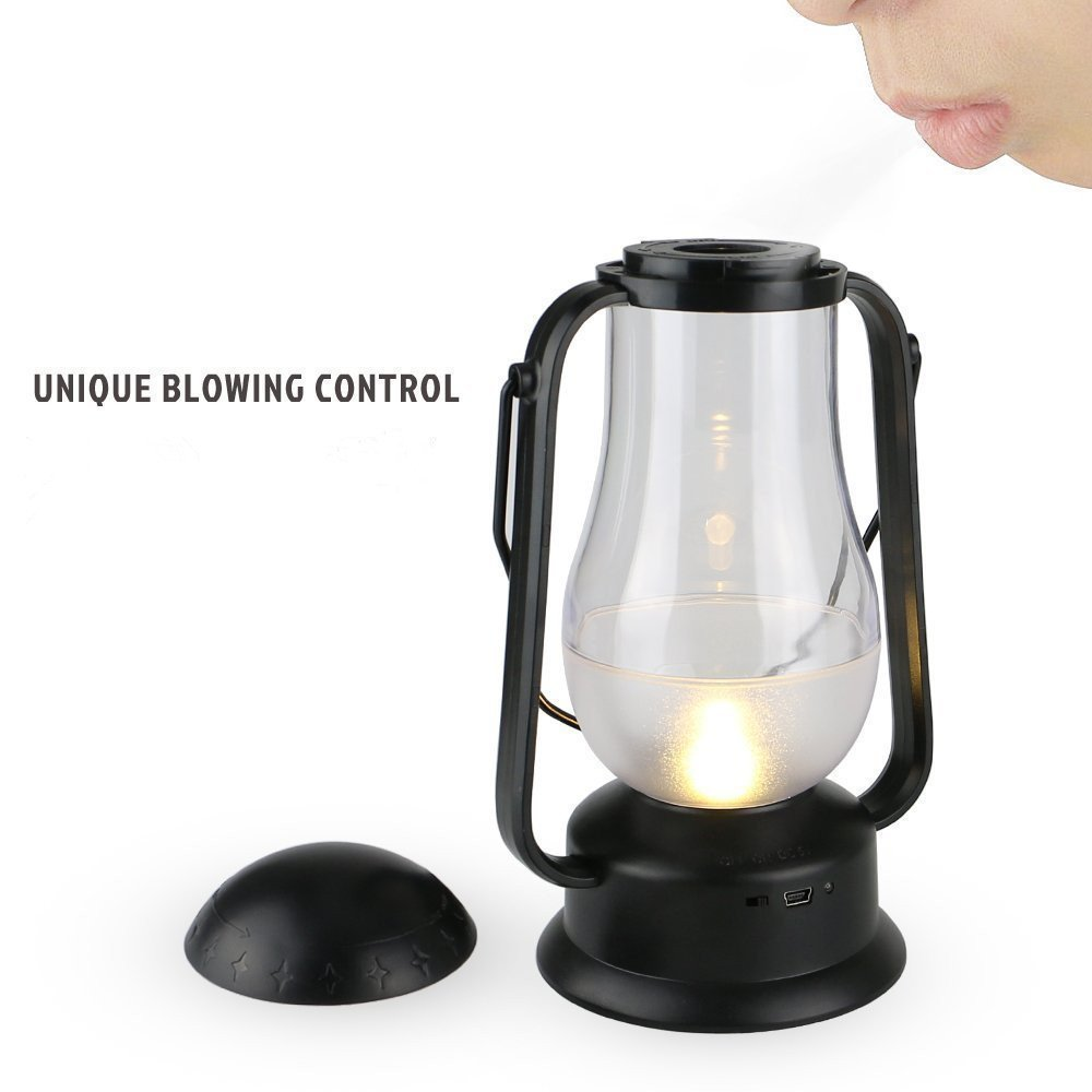 e-joy ej-0025 Portable Blow LED Lamp Blowing Control LED Lantern/Candle Wireless Camping Lamp Nightlight Bedside Lamp 1