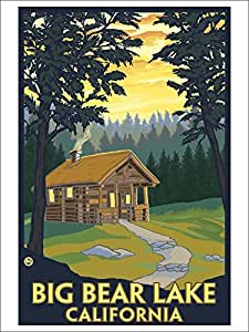 Big bear lake california cabin in the woods for Cabin in the woods wall mural