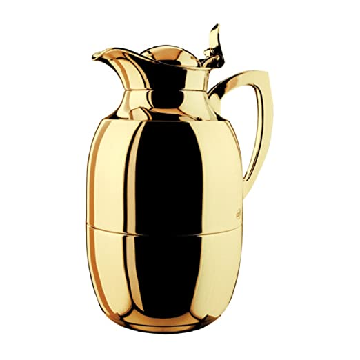Alfi Juwel Gold Plated Brass Thermal Carafe, 33-Ounce