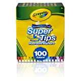 Super Tips Washable Markers, Gift Age 3+ - 100 Count (Pack of 2) (Color: Assorted, Tamaño: 3.38 x 5.75 x 7.09 Inches)