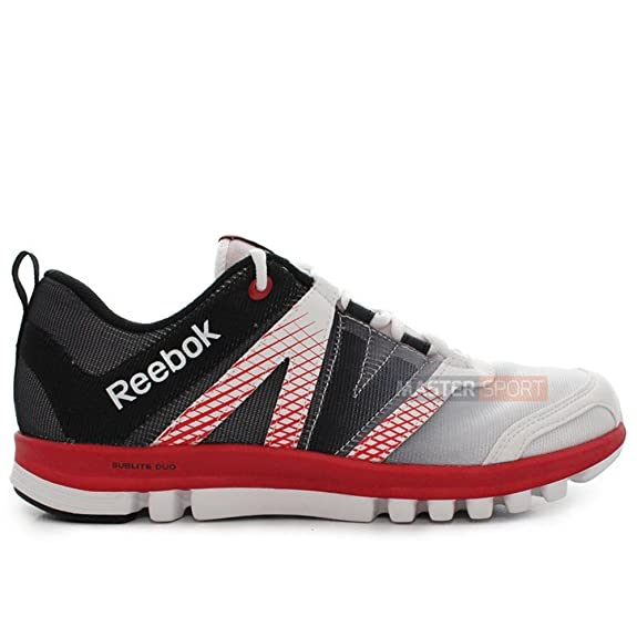 Reebok Men's Reebok Sublite Duo Lx Polyester Running Shoes at amazon