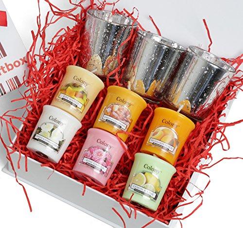 Bougie parfumée Luxe Relaxation Coffret cadeau, idéal pour cadeaux de Noël, Anniversaire, Fête des Mères, Saint-Valentin, jour, cadeau pour elle, Petite amie et femme