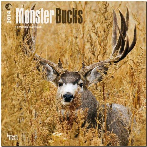 Monster Bucks 2014 - Rotwild: Original BrownTrout-Kalender [Mehrsprachig] [Kalender], Buch