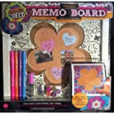 Doodle Deco Wooden Memo Board with Markers, Glitter and Gemstones