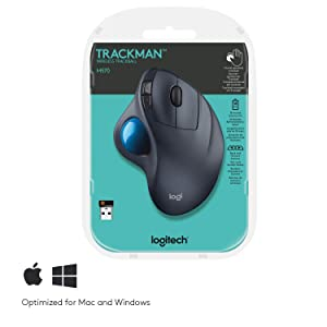 Logitech M570 Wireless Trackball Mouse (Color: black)