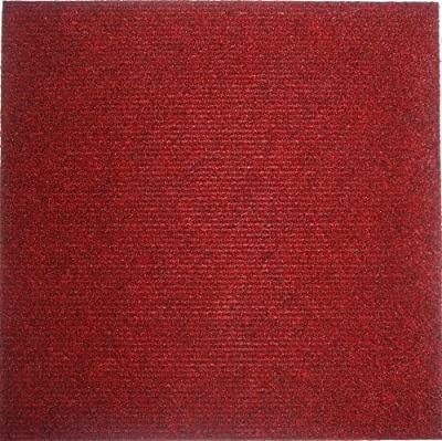 Carpet Tiles Peel and Stick Red 12 Inch, 36 Square Feet