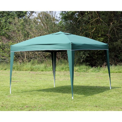 Confidence Pop up Gazebo Party Tent - 3m x 3m (10' x 10') , Racing Green