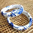 Be Nice Vintage China Style Flower Porcelain Ceramic Bangle Bracelet for Women