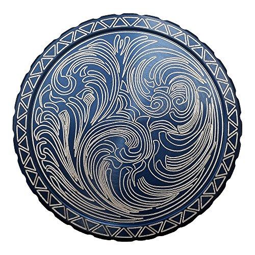 DipLidz Engraved snuff lid Plain Scroll (Blue, 5250-Copenhagen Plastic-Skoal-Redman-Kayak) (Engraved Snuff Can Lids compare prices)