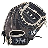 Louisville Slugger 32.5-Inch FG HD9 Catchers Mitts, Navy/Grey, Right Hand Throw, 32.5