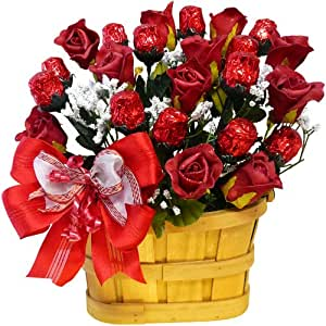 Art of Appreciation Gift Baskets Sweetheart Candy Bouquet, 1 Dozen Red Chocolate Roses