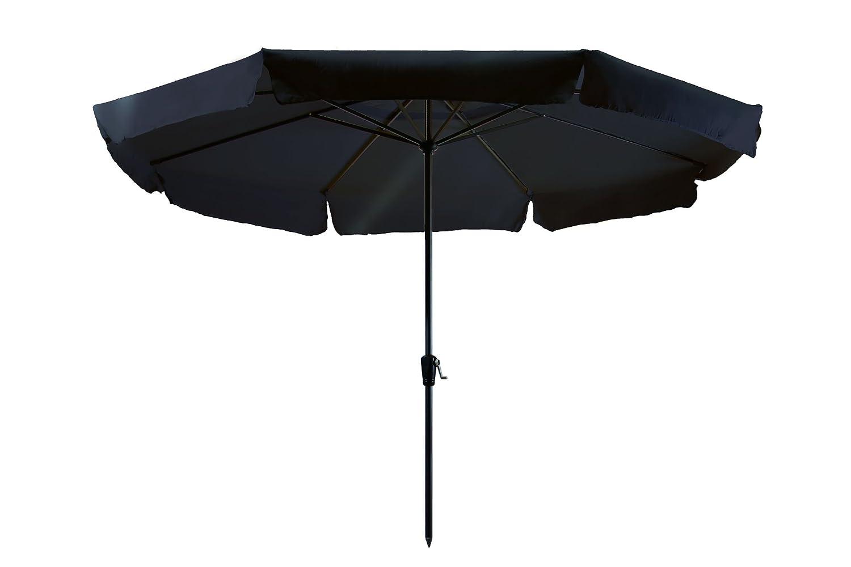 Madison Kurbelschirm Rhodos 350 schwarz mit UV-Schutz 40 Plus