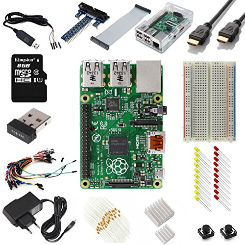 Raspberry Pi Model B+ (B Plus) Ultimate Starter Kit Includes 15 Essential Components