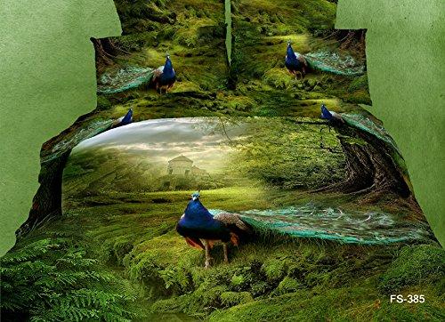 Peacock Print Bedding Set front-130202