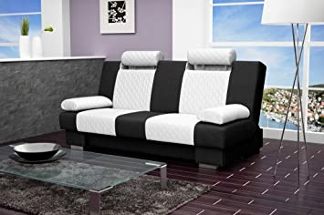 ANTONIO Sofa Bed * Brand New * Modern Design, WHITE AND BLACK
