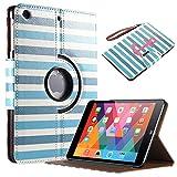 iPad Mini 3 Case, iPad Mini Case- ULAK 360 Rotating Synthetic Leather Stand Case with Auto Sleep/Wake Function for Apple iPad Mini 1/2/3 (Pattern-Stay)