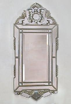 Vintage Venezia Murano Portrait Silver Mirror