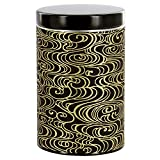 Gold and Black Clouds Tea Canister