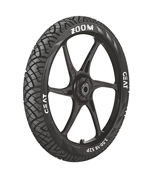 Ceat Zoom P100/90 - 17 Tubeless Bike Tyre, Rear (Home Delivery)