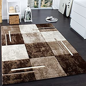 Designer Rug - Contour Cut - Geometric - Marble Look - Brown Cream from PHC