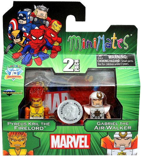 Marvel Minimates Exclusive Pyreus Kril the Firelord & Gabriel the Air-walker