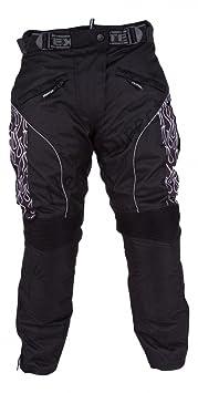 Femmes Noir à motifs Pantalons moto étanche