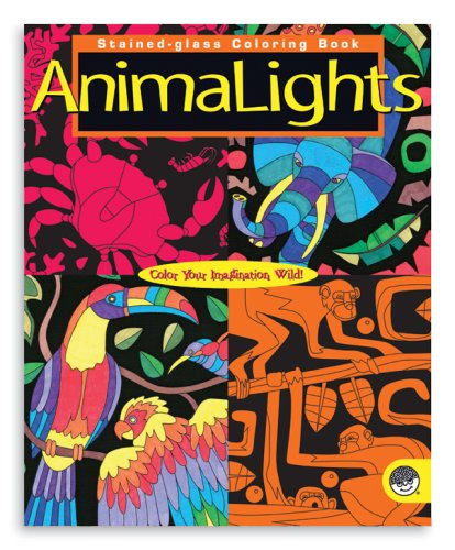 AnimaLights Stained Glass Coloring Book - Buy AnimaLights Stained Glass Coloring Book - Purchase AnimaLights Stained Glass Coloring Book (Mind Ware, Toys & Games,Categories,Arts & Crafts)