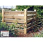 "Holz Kompostsilo ""BIO"" - Komposter mit Zuganker"