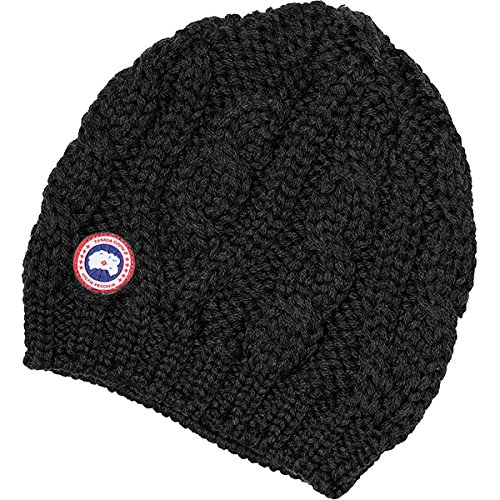 Canada Goose Chunky Cable Knit Beanie - Women's Black One Size (Canada Goose Merino Wool Hat compare prices)