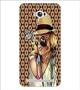 PrintDhaba Hat Girl D-4575 Back Case Cover for ASUS ZENFONE MAX ZC550KL (Multi-Coloured)