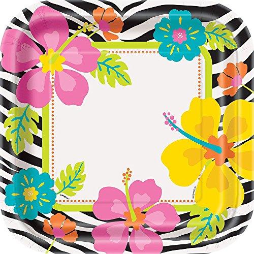 una-de-las-partes-23-cm-platos-salvaje-piazza-del-partido-de-luau-paquete-de-8