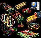Joyin Toy 200 8'' Glowsticks Glow Sticks Bracelets Glow Necklaces Party Favors Pack (7 Colors Total 456 PCs)