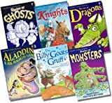 Various Usborne Young Reading Series 1 with CD Boy's Collection - 6 Books RRP £35.94 (Stories of Dragons + CD; Stories of Ghosts + CD; Stories of Knights + CD; Stories of Monsters + CD; Aladdin and his Magical Lamp + CD; The Billy Goats Gruff + CD)